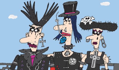Typen von Menschen auf Goth-Partys